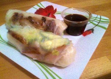 Fresh Chicken Spring Rolls from Thai Express
